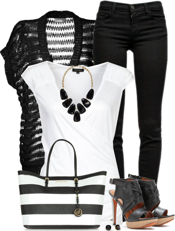 casual weekend black and white outfit idea outfitspedia