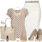 Feminin Neutral Color Work Outfit