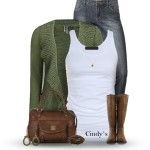 Simple Cute Fall Outfit With Studded Sweater Cardigan