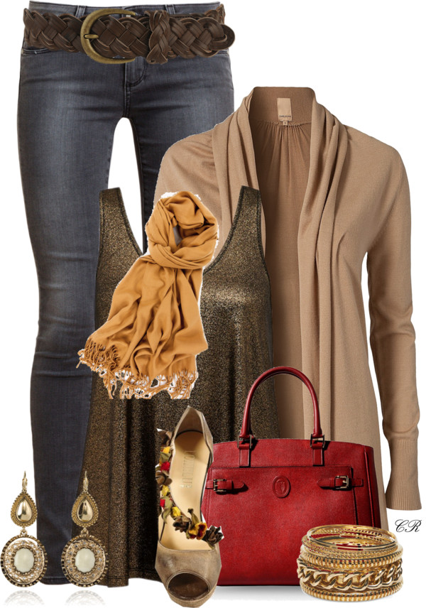 stunning casual fall outfit with glitter tank top outfitspedia
