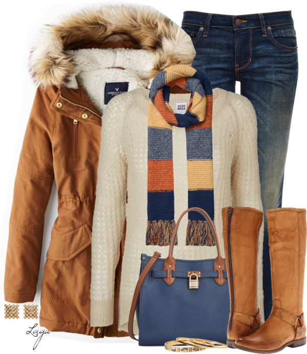 American Eagle Hooded Parka Winter Outfit Outfitspedia