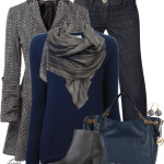 Ash & Cobalt Fall Work Outfit