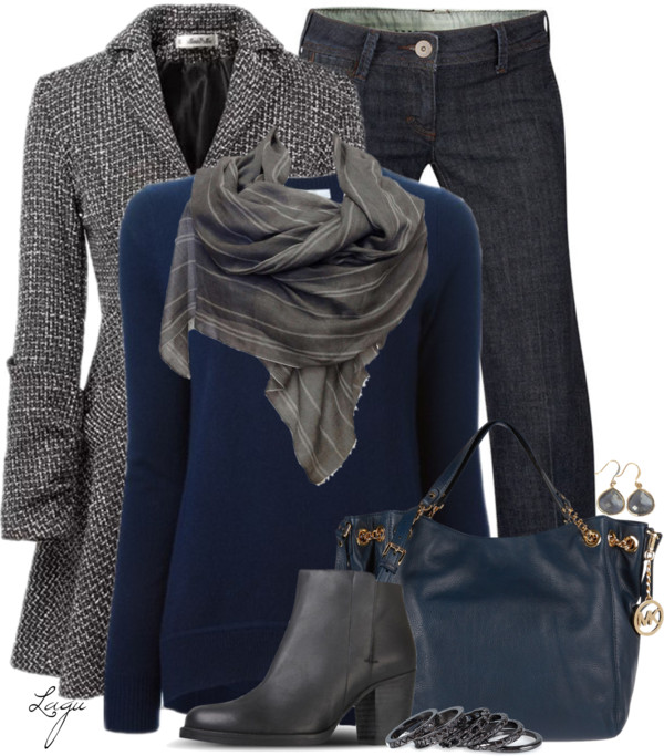 Ash & Cobalt Fall Work Outfit Outfitspedia
