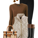 Bandalino Cognac & Black Fall Outfit