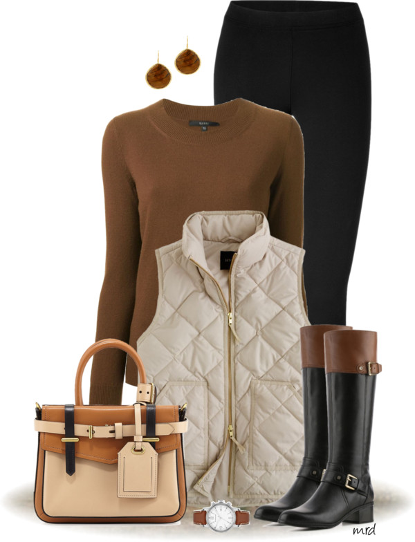Bandalino Cognac & Black Fall Outfit Outfitspedia