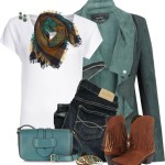 Blue Green Casual Outfit