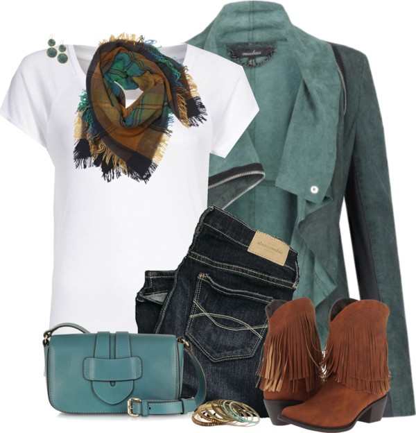 Blue Green Casual Outfit Outfitspedia