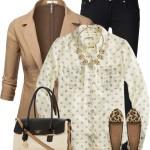 Blythe Polka Dot Blouse Work Outfit