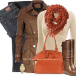 Brown Biker Trench Coat Autumn Outfit