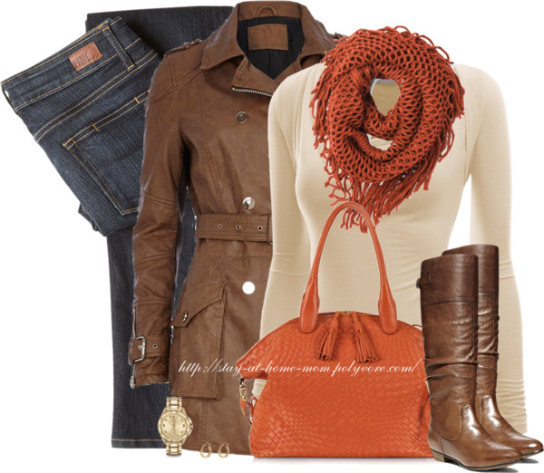 Brown Biker Trench Coat Autumn Outfit Outfitspedia