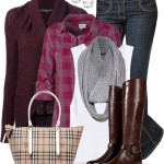 Burberry Tote & Boots Casual Fall Outfit