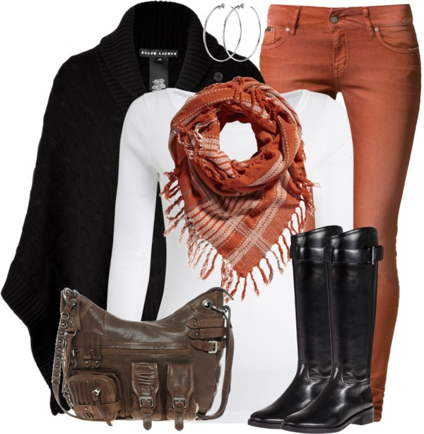 Cashmere Chunky Cable Poncho Fall Outfit Outfitspedia