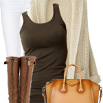 Casual Batwing Cardigan Fall Outfit
