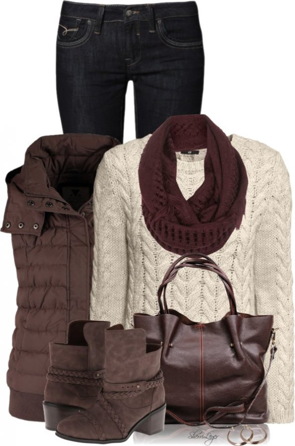 Casual Fall Outfit With Waistcoat Outfitspedia