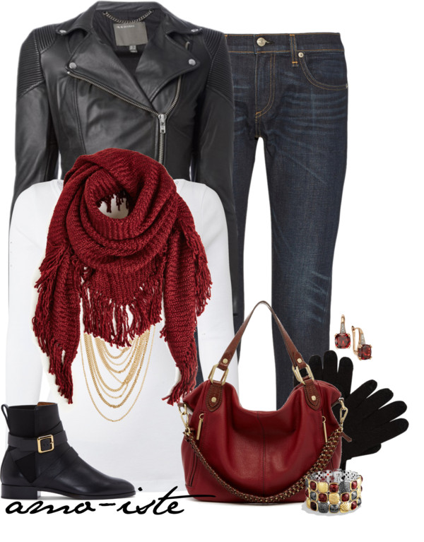 Casual Fringe Scarf Fall Outfit Outfitspedia
