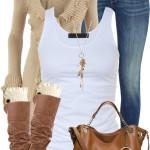 Casual Long Stone Ruffle Cardigan Fall Outfit