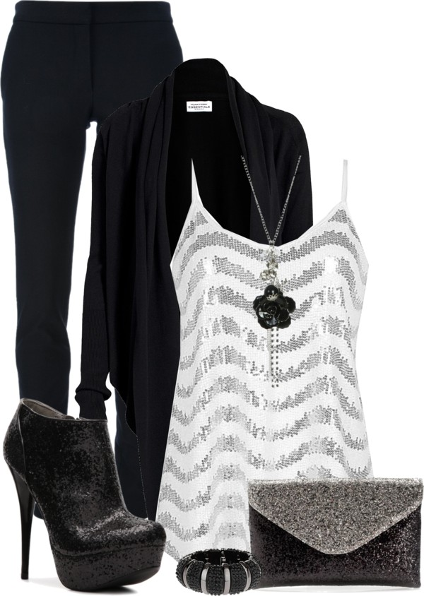 Casual Sparkle Tank Top Outfit Outfitspedia