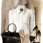 Classy Vintage Cream Brown Fall Work Outfit
