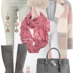 Comfy Pastel Coat Fall Winter Outfit