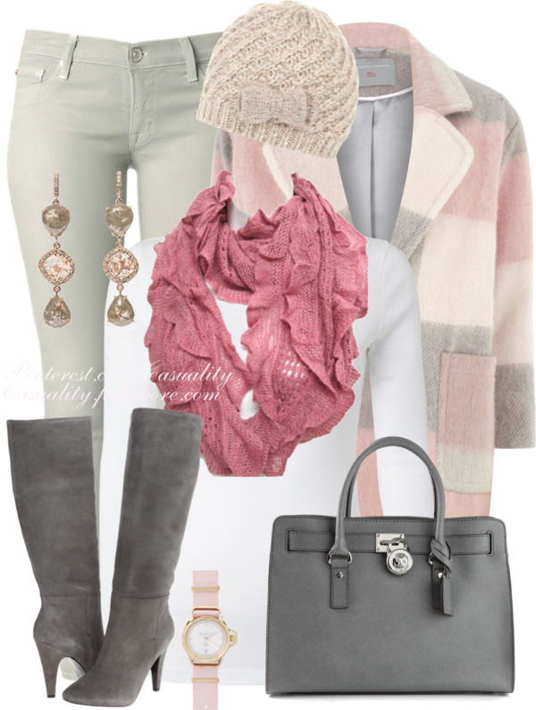 Comfy Pastel Coat Fall Winter Outfit Outfitspedia