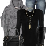 Cozy Cowl Neck Sweater Casual Fall Outfit