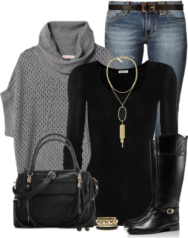 Cozy Cowl Neck Casual Fall Outfit Outfitspedia