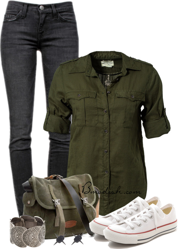 Denim Ralph Lauren With Converse Casual Outfit Outfitspedia