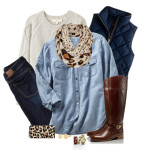 Denim Shirt Layered for Fall Outfit