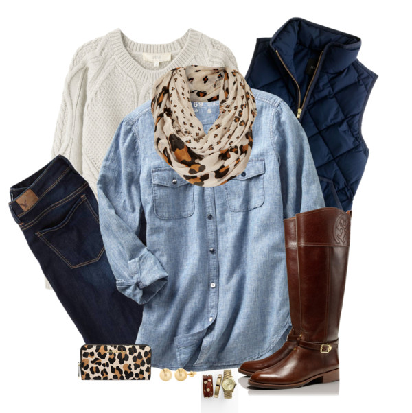 Denim Shirt Layered for Fall Outfit Outfitspedia
