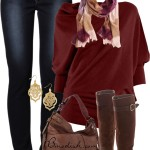 Drape Knit Jumper Casual Fall Outfit