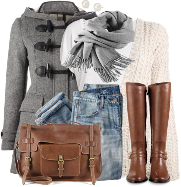 Duffle Coat Simple Winter Outfit Outfitspedia
