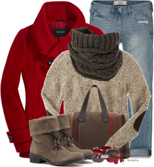 Elbow Patch Knitwear Casual Fall Outfit Outfitspedia