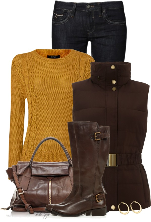 Gilet Coat Fall Outfit Outfitspedia