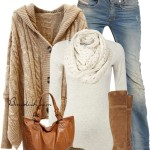 Hooded Oversize Cardigan Casual Fall Outfit