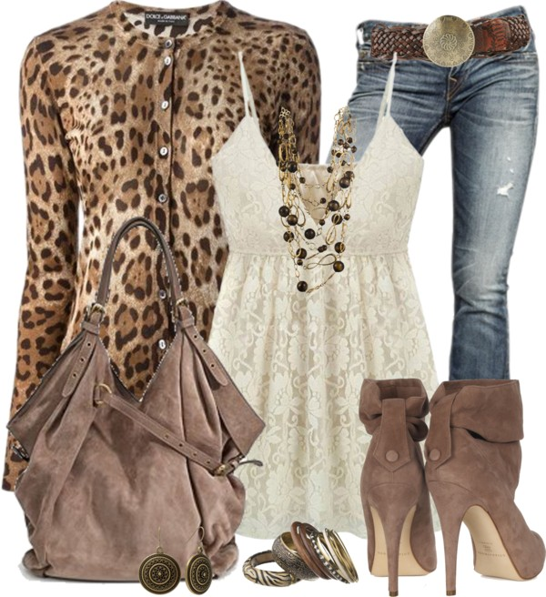 Lace Tank Dress With Leopard Cardigan Classy Outfit Outfitspedia