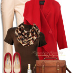 Leather Messenger Bag With Leopard Accent Fall Work Outfit