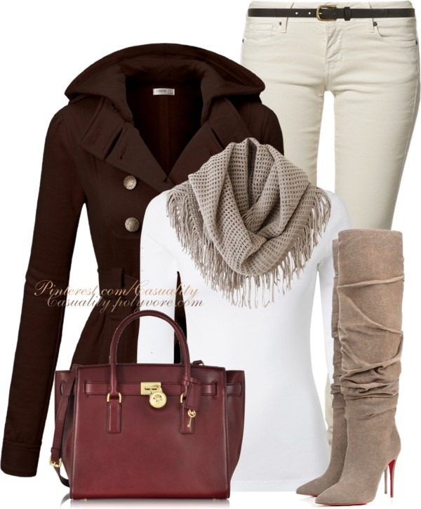 Louboutin boots and mk bag fall outfit outfitspedia