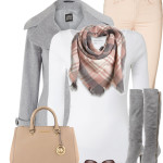 Lovely Pastel Color Fall Outfit Idea