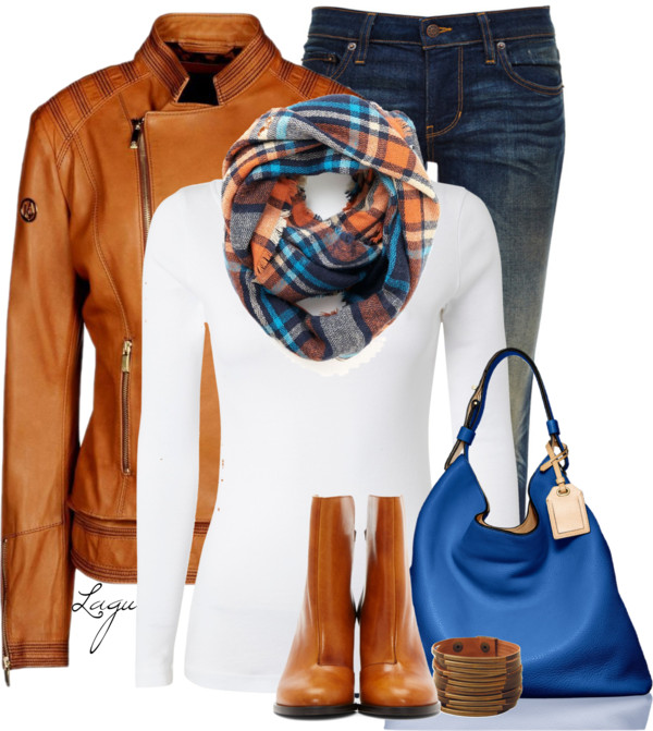 Orange and cobalt blue fall night fall outfit outfitspedia