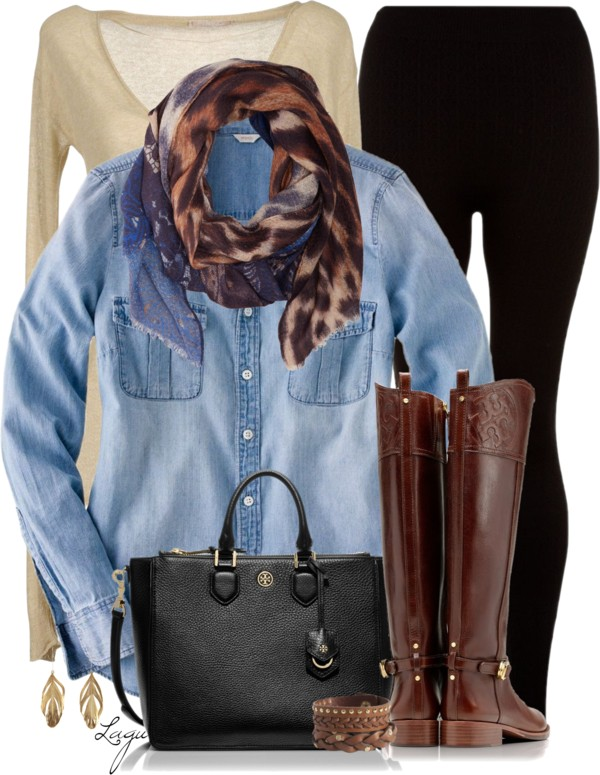 Outfit combination with animal print scarf outfitspedia