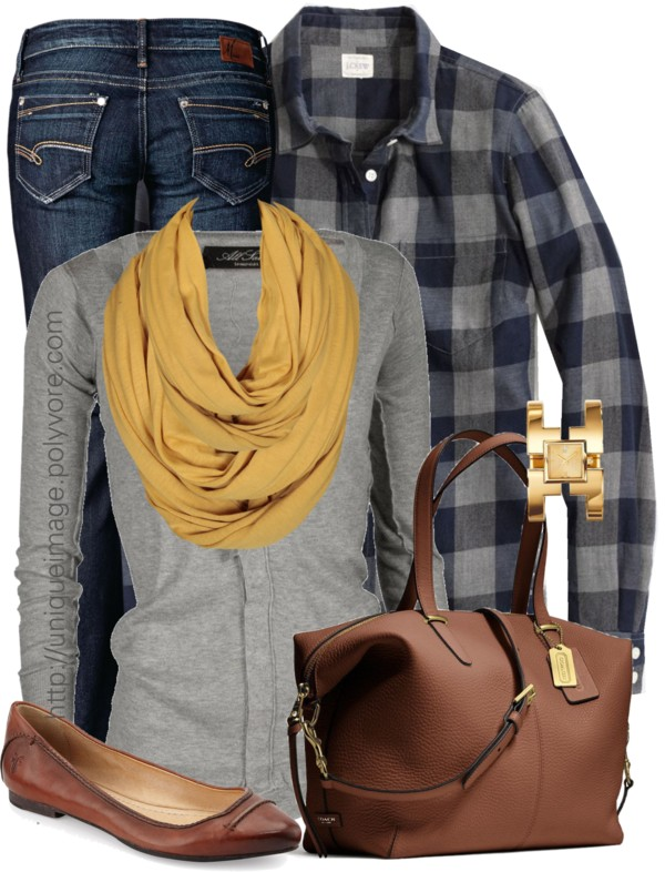 Preppy in Plaid Fall Outfit Outfitspedia