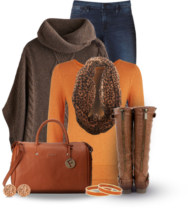 'Pumpkin' color amazing fall outfit combination outfitspedia