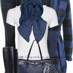 Shades Of Blue Casual Fall Outfit