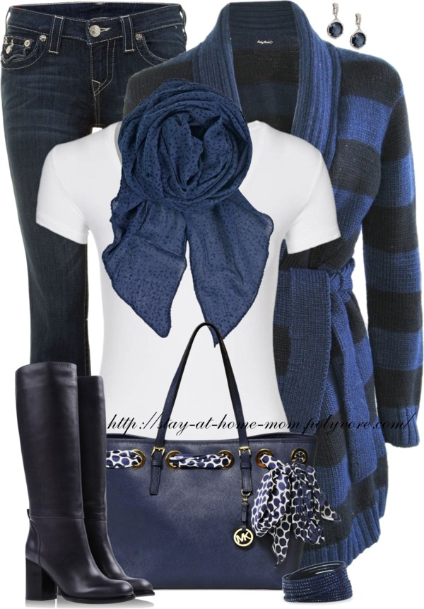 Shades Of Blue Casual Fall Outfit Outfitspedia