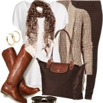 Shades of Brown Casual Fall Outfit
