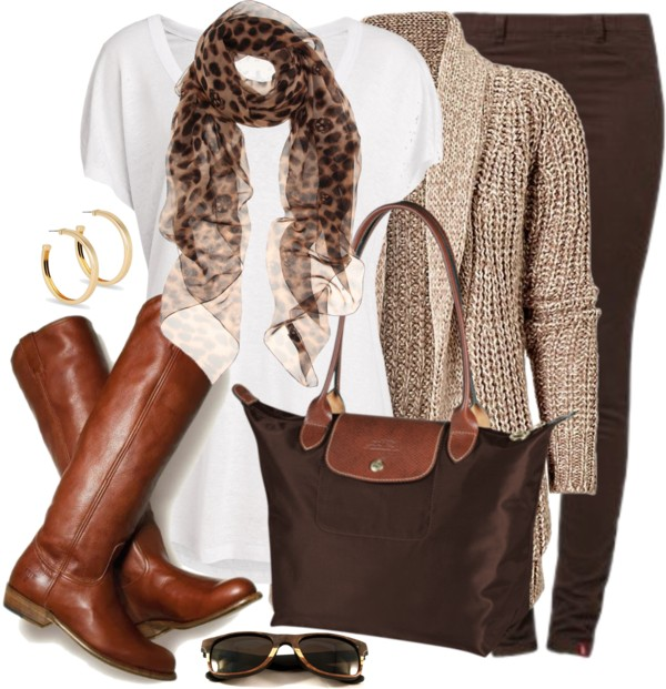 Shades of Brown Casual Fall Outfit Outfitspedia