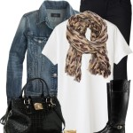 Simple Casual White Shirt And Black Pants Fall Outfit Idea