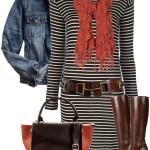 Striped Sweater Dress Fall Outfit