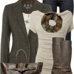 Tweed Blazer Fall Work Outfit