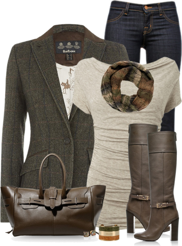 Tweed Blazer Fall Work Outfit Outfitspedia